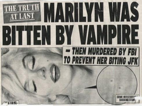 ... Marilyn Monroe as a Vampire